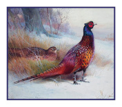 Old English Pheasants by Archibald Thorburn Counted Cross Stitch Pattern