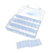 Anbers Thread Organiser/ Sewing Tool Box with 8 Adjustable Dividers, Clear View, 4-Pack