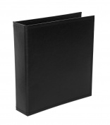 Becky Higgins Midnight Faux Leather Album for Scrapbooking, 15cm by 20cm