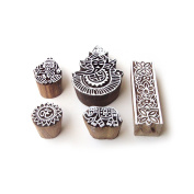 Ganesha and Elephant Indian Designs Wooden Printing Stamps