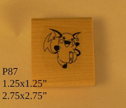 P87 Pikachu rubber stamp