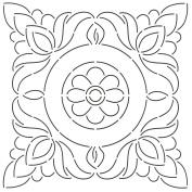 Quilting Creations Floral Block Quilt Stencil, 28cm