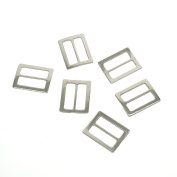 yoyostore 20pc Metal Square Ring Buckle DIY Luggage Belt Shoe Hat Slide Making Sewing Craft Inside Width 25mm Diy