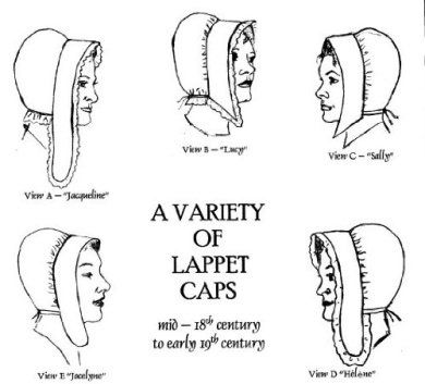 A Variety of Lappet Caps Pattern - mid-18th Century to Early 19th Century
