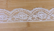 40 Yards White Cluny Chantilly Floral Lace 5.1cm Wide