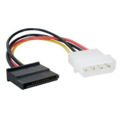 Simply Silver - IDE Molex 4-Pin Male to Serial ATA SATA 15-Pin Female Power Adapter Cable Cord - Unbranded