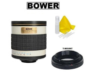 Bower 500mm f/6.3 Telephoto Mirror Lens for Sony Alpha SLT A900 A850 A580 A560 A550 A500 A700 A450 A390 A380 A350 A300 A290 A230 A200 A100 A99 A77 A68 A65 A58 A57 A55 A37 A35 A33 A29