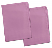 2 Purple Lavender Toddler Pillowcases - Envelope Style - 13x18 - 100% Cotton With Soft Sateen Weave - Machine Washable - ZadisonJaxx Bellacolour Collection - 2 Pack