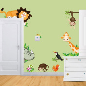 Iuhan® Fashion Jungle Animal Kids Baby Nursery Child Home Decor Mural Wall Sticker Decal