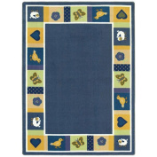 Joy Carpets Kid Essentials Infants & Toddlers Oval Baby Blues Rug, Bold, 1.5m x 2.1m