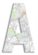 The Home Stupell Home Decor Collection London Map Hanging Wooden Initial, A, 46cm