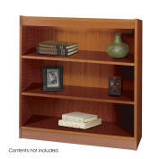 Safco Products 1502CYC Square-Edge Bookcase, 2 Shelf, Cherry