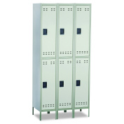 Safco Products 5526GR Double Tier Locker, 3 Column, Grey