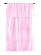 Tadpoles Multi-Layer Tulle Curtain Panel, Pink, 210cm