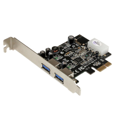 StarTech.com 2-Port PCI Express (PCIe) SuperSpeed USB 3.0 Card Adapter with UASP (PEXUSB3S25)