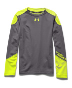 Under Armour Boys' UA ColdGear Infrared Grid Hybrid Mock