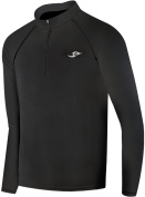 New Boys & Girls Youth 118 Black Winter Compression Zip Up Skin Tight Shirt