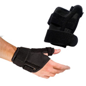 Wrist Brace Thumb Stabiliser Splint Guard, Reversible, Single (1), One Size, Carpal Tunnel, Right and Left Hand, 3 Straps Adjustable, Fits Around Wrist 5.5 - 27cm