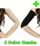 HealthyNees 2 Pairs Combo Slimming Compression Arm Shaper Helps Tone Shape Upper Arms Sleeve