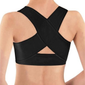 PosturX Personal Posture Corrector With Breathable Silky Weave- Black