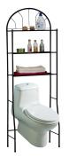 3 Shelves Space-Saving Bathroom Shelving Unit, Over the Toilet Storage Rack
