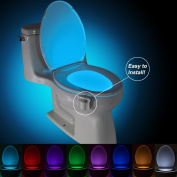 Toilet Light, Motion Activated Toilet Night Light 8 Colour Changing Nightlight For Toilet By Comenzar