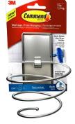Command Hair Dryer Holder, Satin Nickel, 1-Hair Dryer Holder, 2-Large Water-Resistant Strips