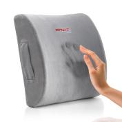 Ziraki Memory Foam Lumbar Cushion - Premium Lumbar Lower Back Pain Lumbar Pillow, Protect and Soothe Your Back - Improve Your Posture - Soft & Firm Balanced Lumbar Support Pillow- Including Gift Bag