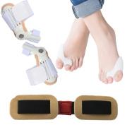 Dr. Kong Complete Bunion Relief Corrector Kit Set-5 Pieces Hallux Valgus & Bunion Pads, Toe Spacers, Toe Separators, Bunion Splint, Toe Straightener, Bunion Protector, Bunion Cushions