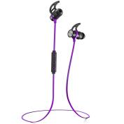 Phaiser BHS-730 Bluetooth Headphones Runner Headset Sport Earphones with Mic and Lifetime Sweatproof Guarantee - Wireless Earbuds for Running, Heliotrope