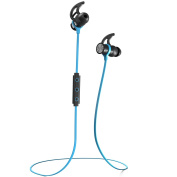 Phaiser BHS-730 Bluetooth Headphones, Wireless Earbuds Magnetic Stereo Earphones for Running with Mic and Lifetime Sweatproof Guarantee, Oceanblue