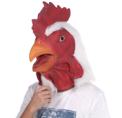 Lubber Rooster Latex Animal Head Mask For Costume