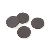 Flexible Magnets 2.5cm Round Disc with Adhesive Backing - 50 Pcs