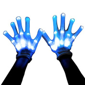 Led Skeleton Gloves, 12 Colour Changeable Light Up Shows Halloween Costume, Novelty Christmas Gift