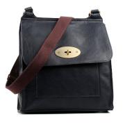Aossta Faux Leather Large / Medium Twist Lock Cross Body Messenger Bag Turnlock Shoulder Bag