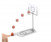 Avtion Basketball Game - Mini Desktop Tabletop Portable Travel or Office Game Set for Indoor or Outdoor- Fun Sports Novelty Toy or Gag Gift Idea