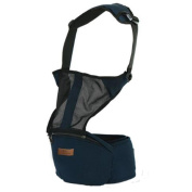 Mainaisi Baby Sling Carriers Hipseat Breathable Adjustable 4 Positions Ergonomics Front 2 Back Navy Blue