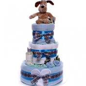 Gromit Nappy Cake Baby Boy, Nappy Cake gift idea, new baby nappy cake gift, 3 tier nappy cake,