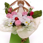Guess How Much I Love You Baby Bouquet for a Girl, maternity leave gift, baby shower gift, send a baby bouquet