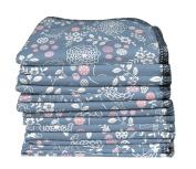 ImseVimse Washable wipes Washable Cloths Blue Pack of 12 Garden
