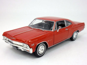 Chevrolet Impala (1965) SS 396 1/24 Scale Diecast Metal Car Model - RED
