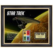 Star Trek U.S.S. Enterprise Framed Stamp Art, 43cm by 36cm