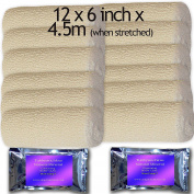 12 CONTOURING BODY WRAP CREPE BANDAGE 15CM X 4.5 BC7 BOOT CAMP BODY CLAY APPLICATION TO TRY
