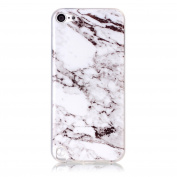 Samidy Touch 5/6 Soft Case, White Marble Pattern TPU Slim Fit Protective Cover Case for Ipod Touch5/6