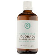 Cold pressed Jojoba oil (100 ml) - 100% pure oil for skin and hair care, produced by Greenstyle