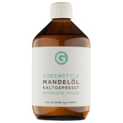 Cold pressed almond oil (500 ml) - pure oil produced by Greenstyle