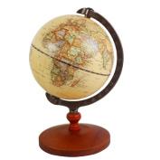 Vintage World Globe Antique Decorative Desktop Globe Rotating Earth Geography Globe Wooden Base Educational Globe Wedding GIFT