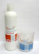 SETS OF TRUZONE CREAM PEROXIDE 6% (20 vol) 250ML & RAPID BLUE HAIR BLEACH 80GM+BRUSH+BOWL by Truzone