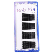 Girls Women's 240 Hairgrips Triple Wave Black Hair Grips Clips Bobby Pins Clamps Wholesale Set for Salon Make Up and Beauty