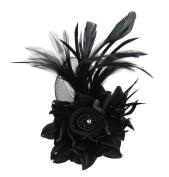 Cheerlife Wedding Hair Clip Hair Flower Hair Flower Feather Corsage Brooch Pin